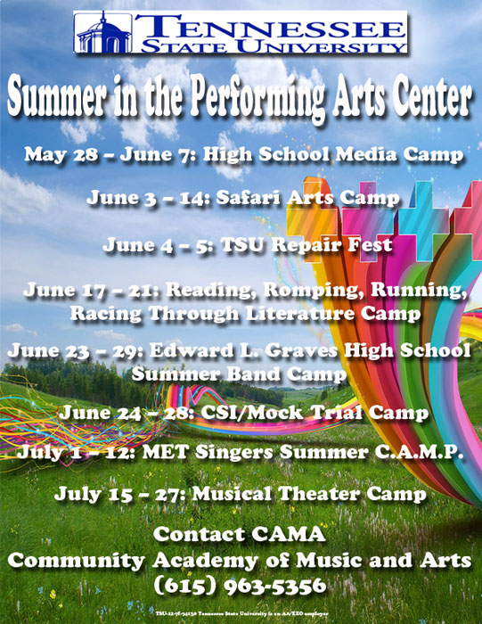 TSU CAMA summer camps